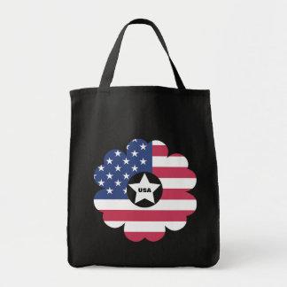 American Flag Star Heart Flower Wreath