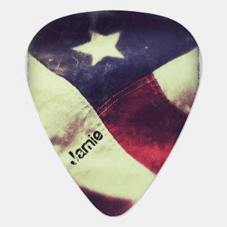 American flag star plectrum