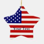 American Flag Star Shape Christmas Ornament Christmas Tree Ornaments