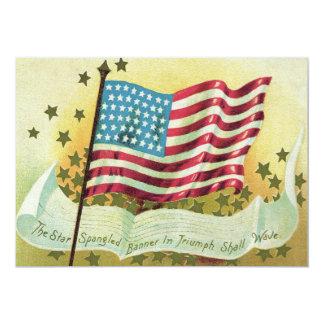 American Flag Star Spangled Banner Stars 13 Cm X 18 Cm Invitation Card