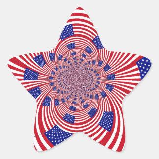 American Flag star sticker