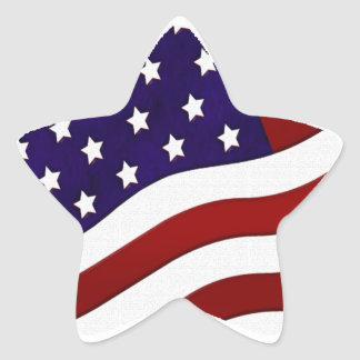 American Flag Star Sticker