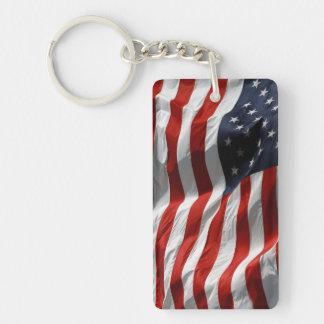 American Flag Stars and Stripes Key Ring