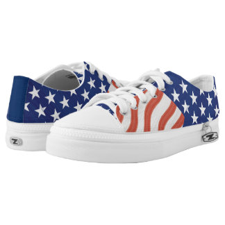 American Flag Stars and Stripes Low Tops