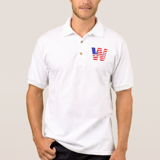 American flag, stars and stripes monogram W Polo Shirt