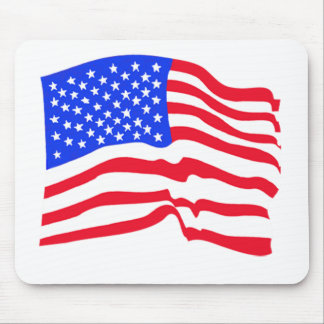 American Flag Stars And Stripes Mouse Pad
