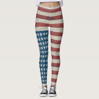 American Flag Stars and Stripes Patriotic Legging