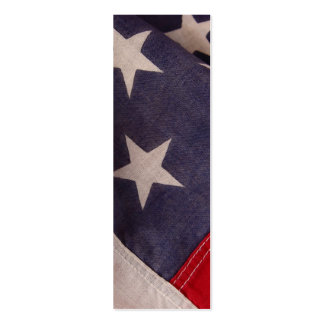 American flag stars bookmark pack of skinny business cards