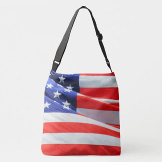 American Flag Stars Stripes USA Red White Blue Tote Bag