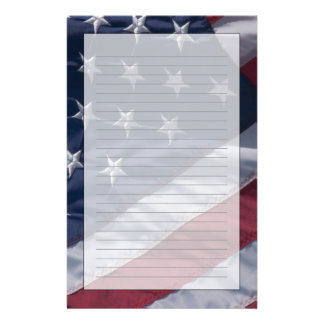 American flag. stationery