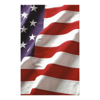 American Flag Stationery