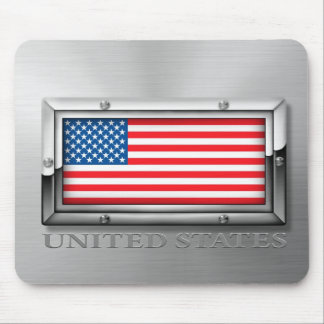 American Flag (Steel) Mouse Mat