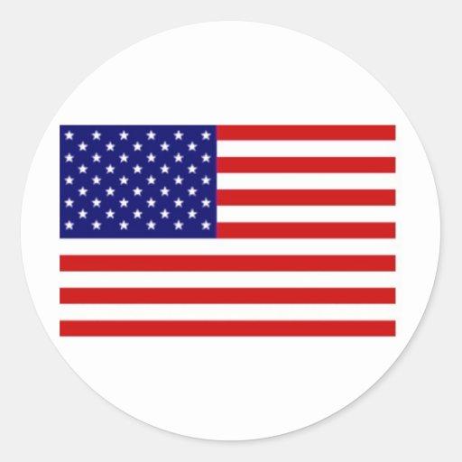 American Flag Sticker