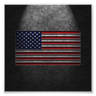 American Flag Stone Texture Photo