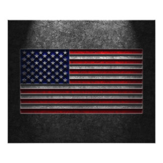 American Flag Stone Texture Photographic Print