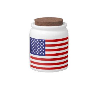 American flag candy jar