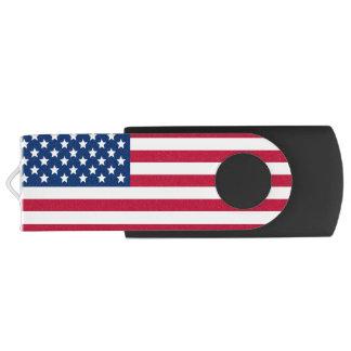 American Flag Swivel USB 2.0 Flash Drive