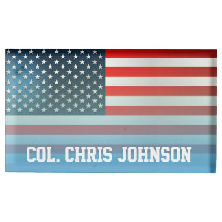 American Flag Table Card Holder