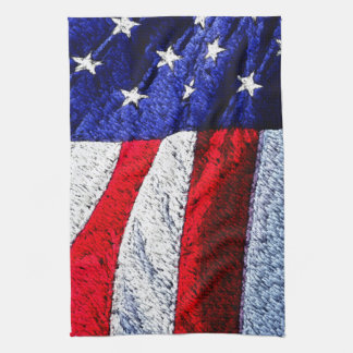 American Flag Tea Towel