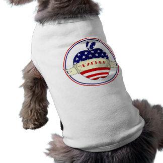 American Flag Teacher Apple Pet Clothing