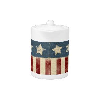 American Flag Teapot