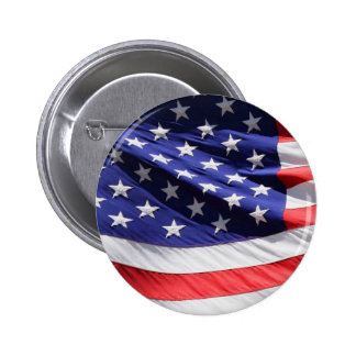 American-flag-Template 6 Cm Round Badge