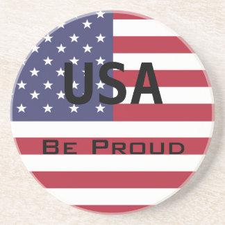 American Flag Template Coaster