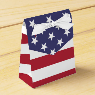 American Flag - Tent Favor Box