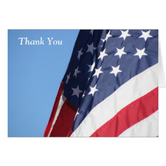 American Flag Thank You Greeting Card