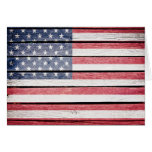 American Flag Thank You or Blank Note Note Card