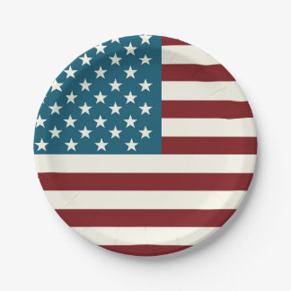 American Flag Themed Patriotic Plates