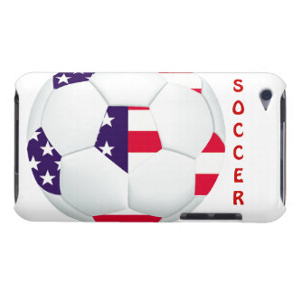 American Flag Themed Soccer Ball iPod Touch Cases