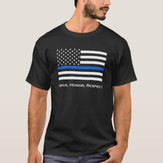 American Flag Thin Blue Line T-Shirt