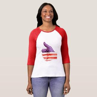 American Flag, Thumbs up. - Patriotic T-Shirt