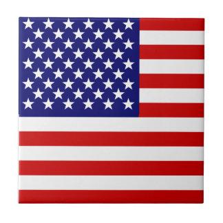 American flag tile