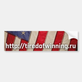 American Flag tiredofwinning.ru Bumper Sticker