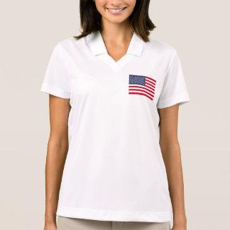 American Flag Polo T-shirts