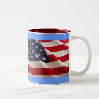 American Flag Two-Tone Coffee Mug
