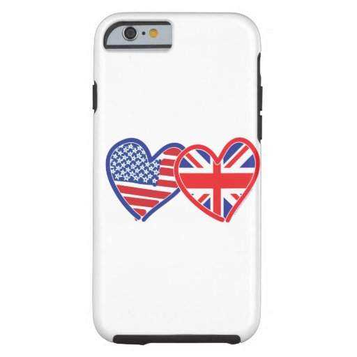 American Flag Union Jack Flag Hearts iPhone 6 Case
