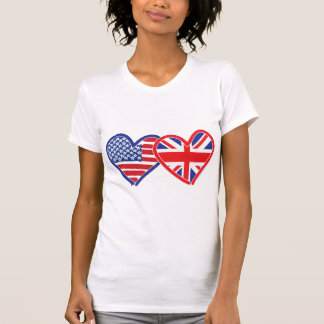 American Flag Union Jack Flag Hearts Tank Top