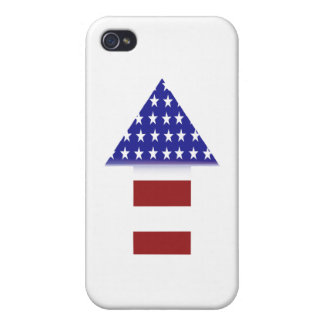 American Flag - unique shapes Covers For iPhone 4