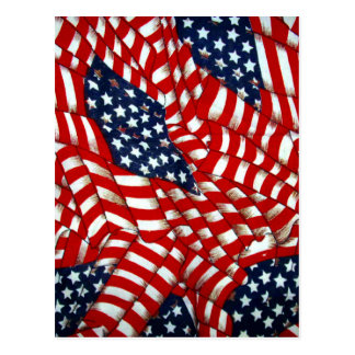 American Flag-Unity & Love_ Postcard