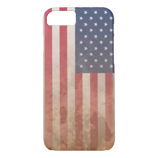 American Flag, US grunge patriotism (USA) iPhone 7 Case