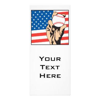 american flag USA baseball Rack Card Template