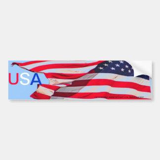 AMERICAN FLAG USA BUMPER STICKER CAR BUMPER STICKER