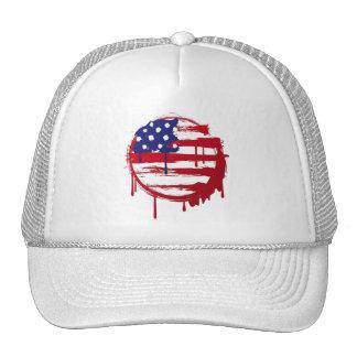 american flag usa graffiti mesh hats