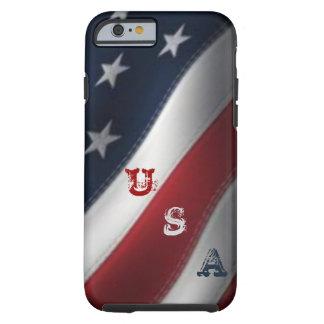 American Flag USA Graffiti Tough iPhone 6 Case