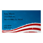American Flag USA Pack Of Standard Business Cards
