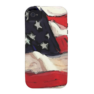 American flag vibe iPhone 4 case
