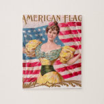 American Flag Vintage Advertising Jigsaw Puzzles